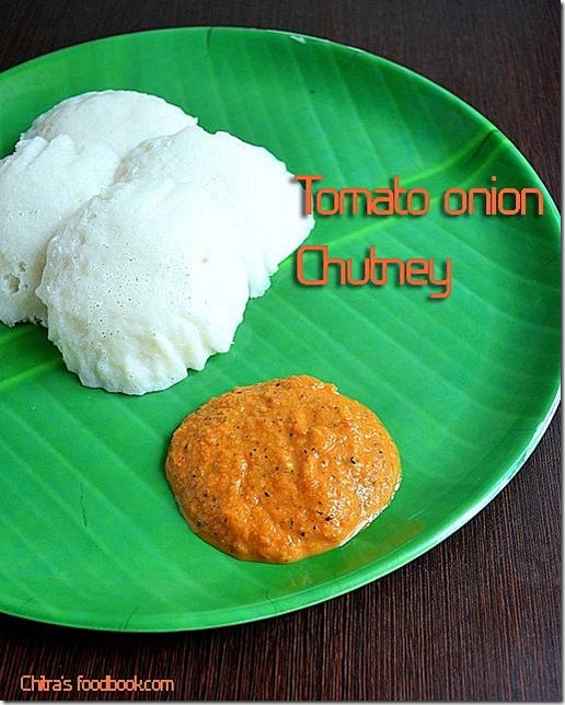 tomato chutney plate