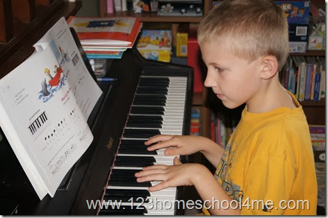 Teacing Piano in homeschool