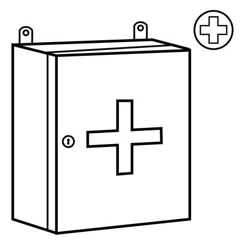 Dibujos para colorear de un botiquin de primeros auxilios - Imagui