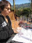 Sandy started off by tasting each wine to get familiar with each individual taste.