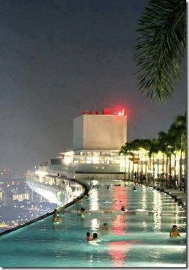 Pool on 57th Floor of the Marina Bay Sands Casino in Singapore.