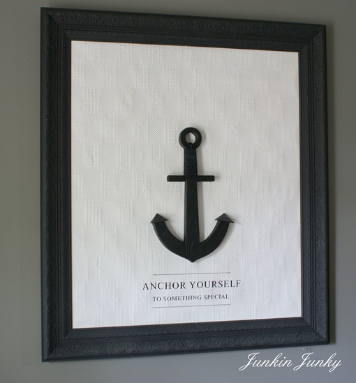 Anchor Yourself DIY art at JunkinJunky.blogspot.com