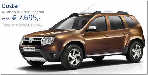 Prijzen 1-7-2012 Dacia Duster