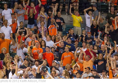 'Baltimore Orioles fans' photo (c) 2012, Keith Allison - license: http://creativecommons.org/licenses/by-sa/2.0/