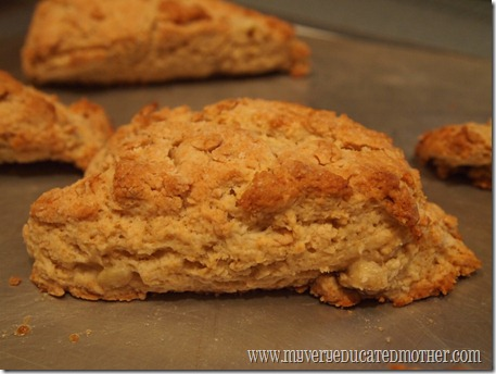 www.myveryeducatedmother.com Peanut Butter and Banana Scones