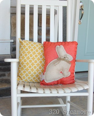 spring easter pillows bunny