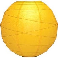 squash yellow paper lantern