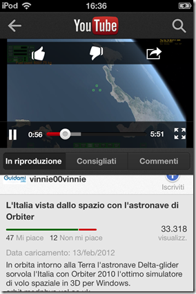 Applicazione ufficiale YouTube - Player di riproduzione