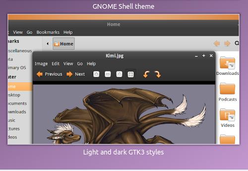 Shiki-Nouveau - Gnome Shell