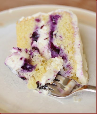 I can eat this delicious and bright dessert to dream about the summery days to come Lemon Blueberry Cake
