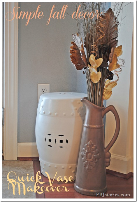 Glazed Vase Makeover on PBJstories.com