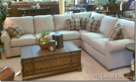 beige flexsteel sectional sofa