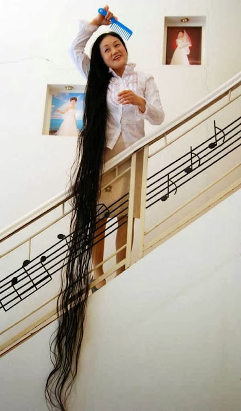 6- O cabelo mais longo do mundo