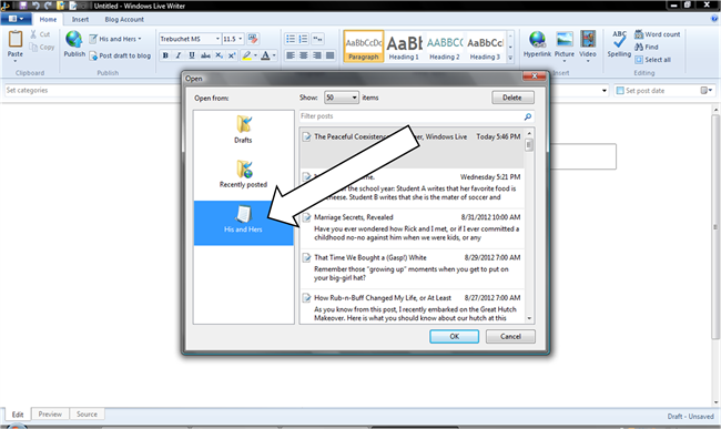creating custom permalink in windows live writer and blogger