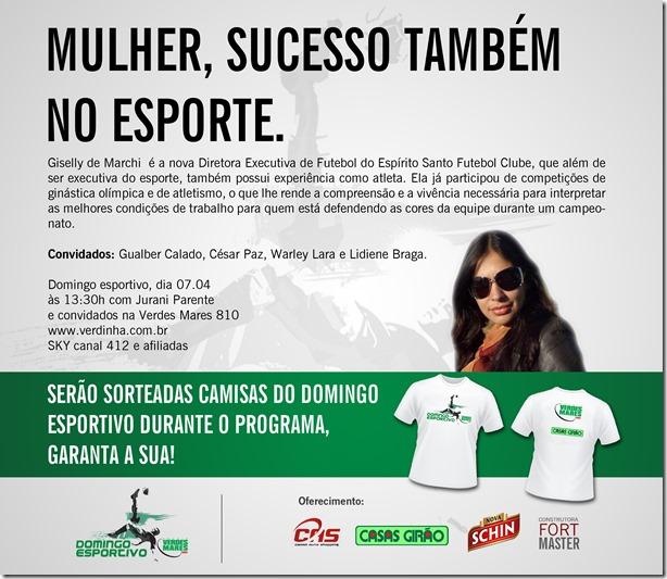 release domingo esportivo 07.04.13
