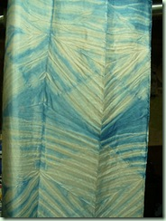 Woad on pole wrapped silk