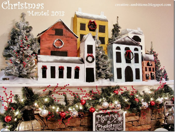 Christmas Mantel Snowy Village