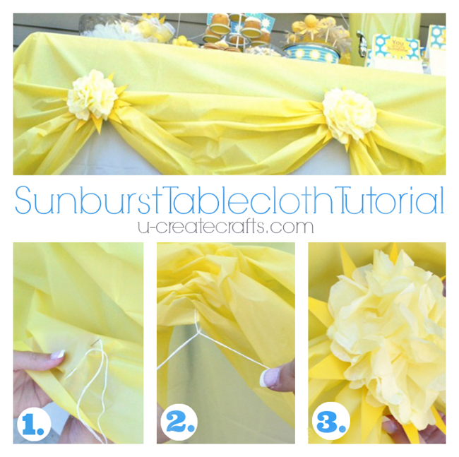 Sunburst Tablecloth Tutorial for Sunshine Party