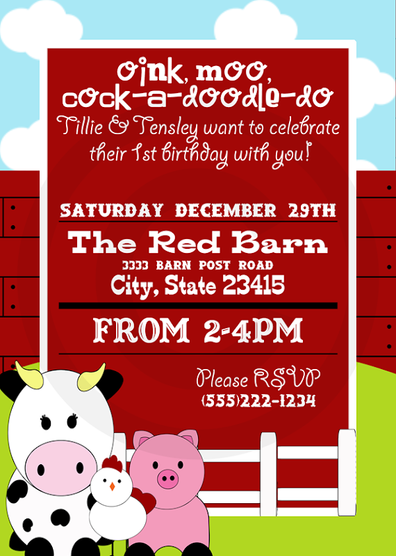 Barnyard Invitation