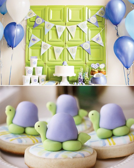 Semplicemente Perfetto turtle-party-dessert-table-and-cookies