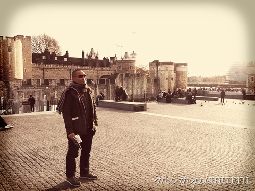 Bobby the hubby at the Tower of London