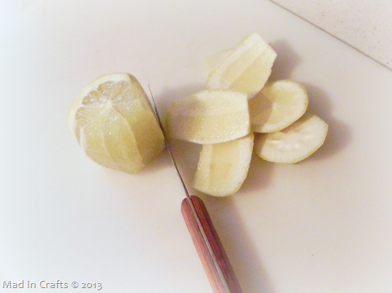 cut rinds off lemon