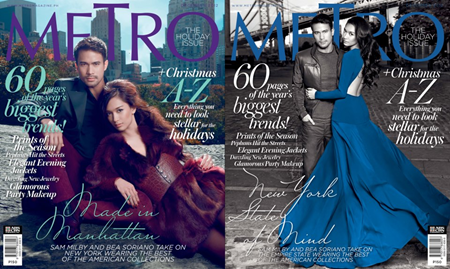 Sam Milby and Bea Soriano cover Metro Dec 2012
