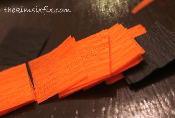 Crepe paper streamer squares