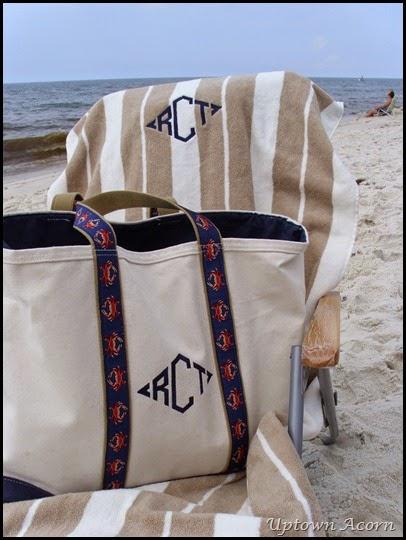 beach bag monogram