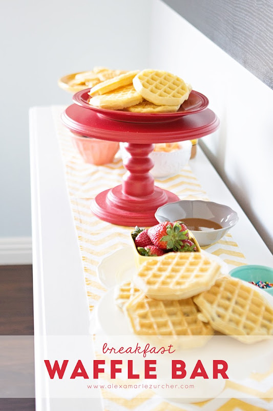 breakfast waffle bar with eggo