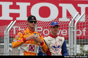 Hunter-Reay and Bourdais