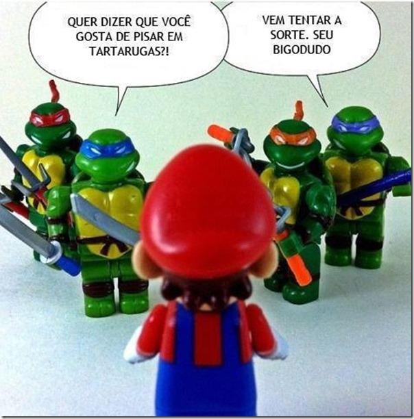 Super Mario vs Tartarugas ninjas