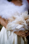 My gorgeous ostrich feather bouquet.