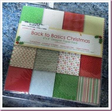 DoCrafts Back to Basics 8 x 8 paper Pack