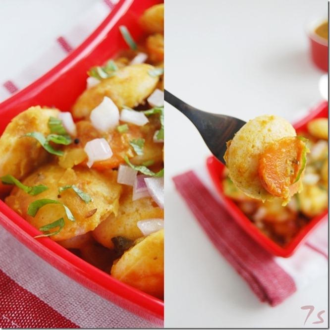 Mini idly sambar collage