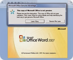 This copy of Microsoft Office is not genuine