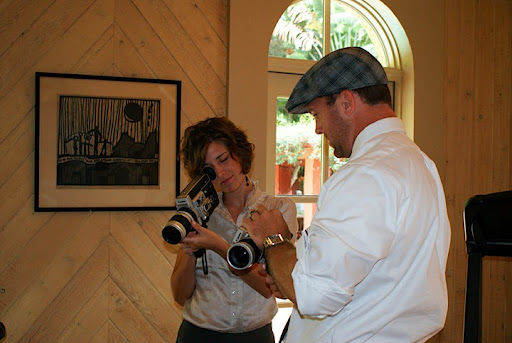 Lexia and Dustin, from Sugar Leaf Photography--the duo behind the engagement photos and the wedding's Super 8 video.