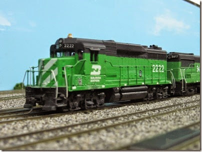 IMG_5448 Burlington Northern GP30 #2222 on the LK&R HO-Scale Layout at the WGH Show in Portland, OR on February 17, 2007