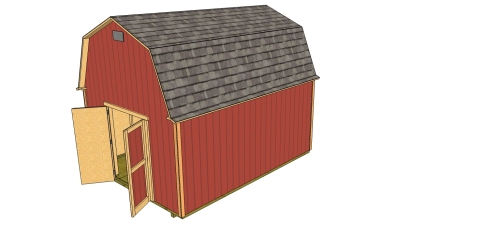 Sketchup Shed Plans 12x16