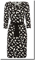 Hobbs Black and Ivory Dress