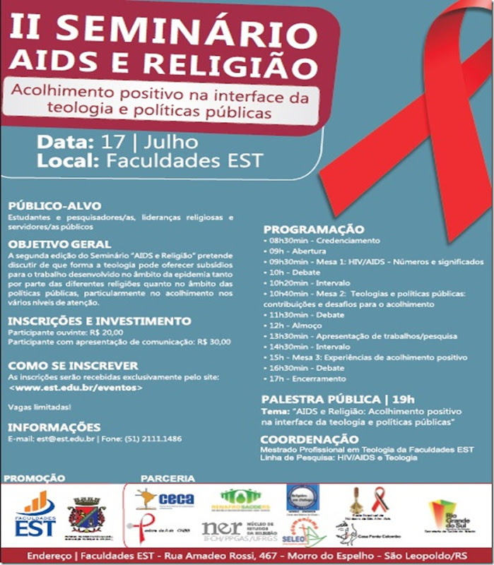 Seminário AIDS e religião - cartaz