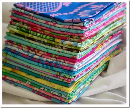 bright colored fat quarters