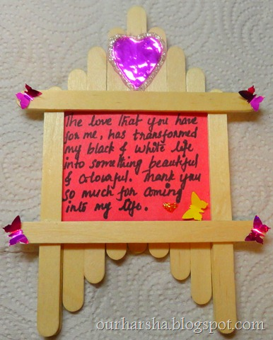 Popsicle sticks or Ice cream sticks Frame  (1)