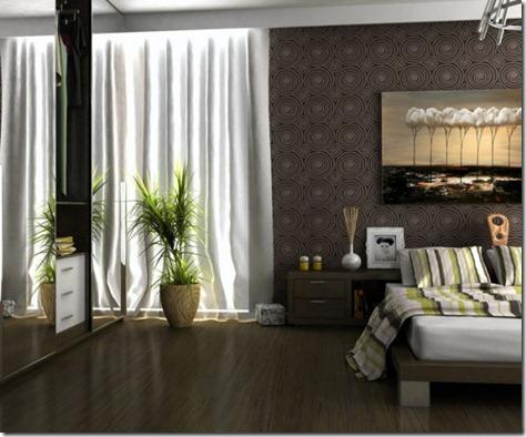 Modern Bedroom Interior Design with Brown Scheme by Pnn
