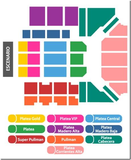 mapa de zonas y lugares en luna park compra tickets en linea