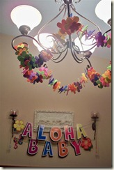 Lullaby Luau decor