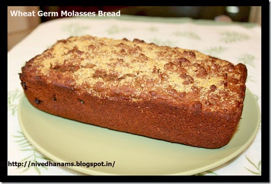 Wheat Germ and Molasses Bread - IMG_3436