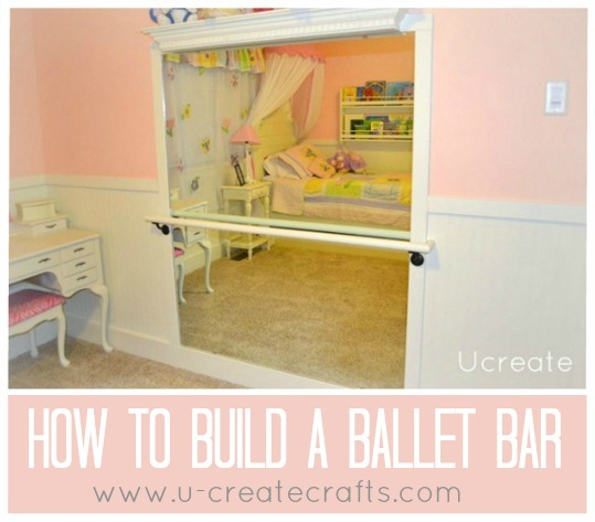 How to Build a Ballet Bar www.u-createcrafts.com