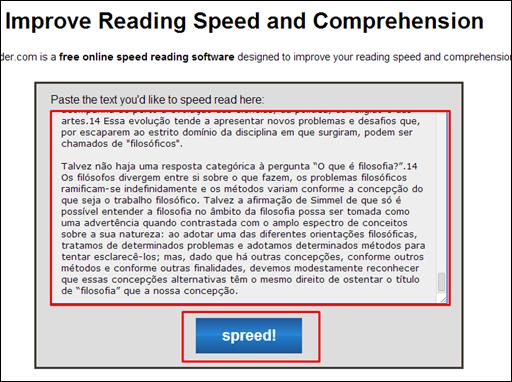 Leitura rápida com Spreeder - Visual Dicas