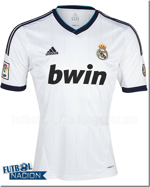 real madrid home kit 12-13